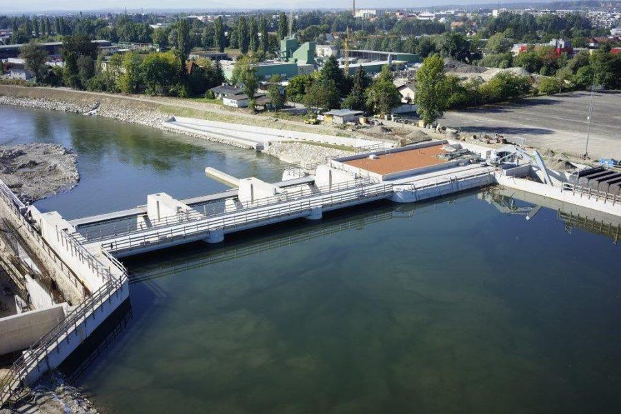 Foto des Murkraftwerk in Graz