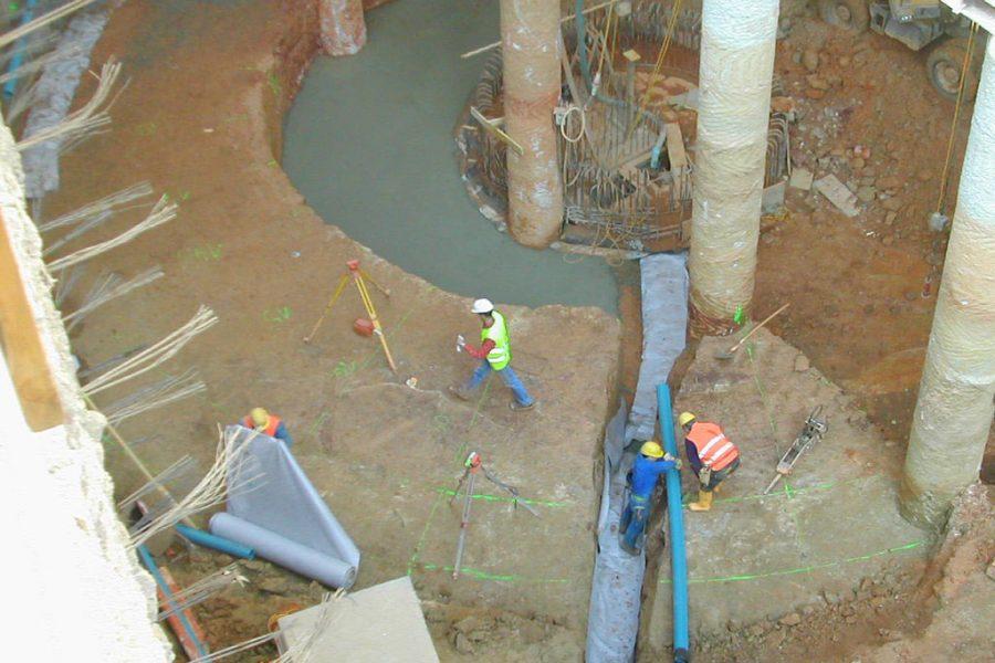 Foto vom Bau der Kastner und Öhler Tiefgarage in Graz