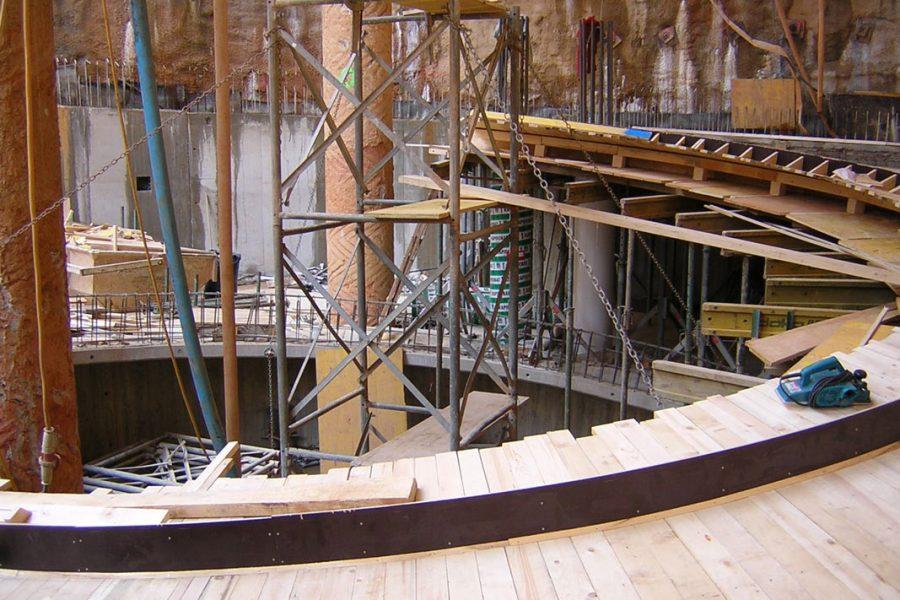 Foto vom Bau der Kastner und Öhler Tiefgarage