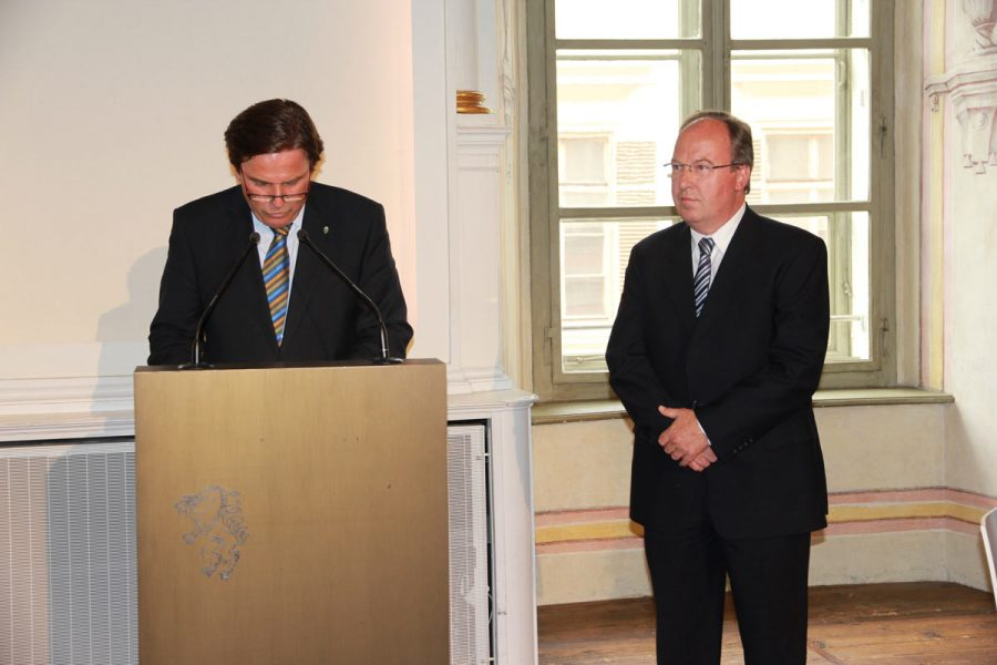 Abbildung des Verleihung des Berufstitel Baurat an Dipl.-Ing. Herbert Eisner