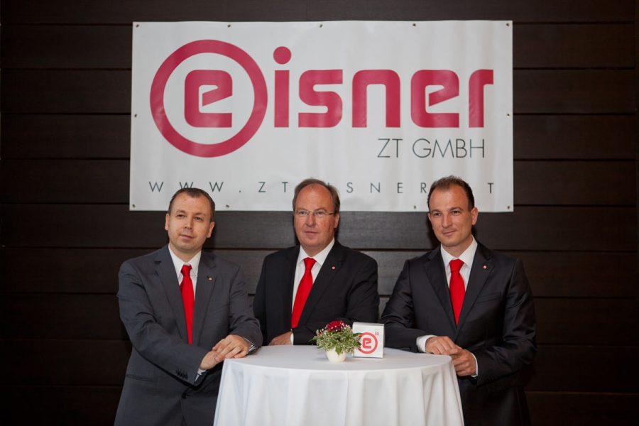Foto von Bernhard, Herbert und Raimund Eisner