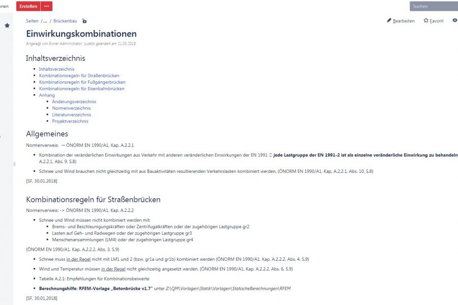 Screenshot der Eisner ZT Wissensdatenbank