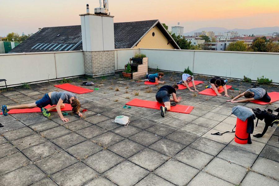 Foto beim Outdoor Training am Dach