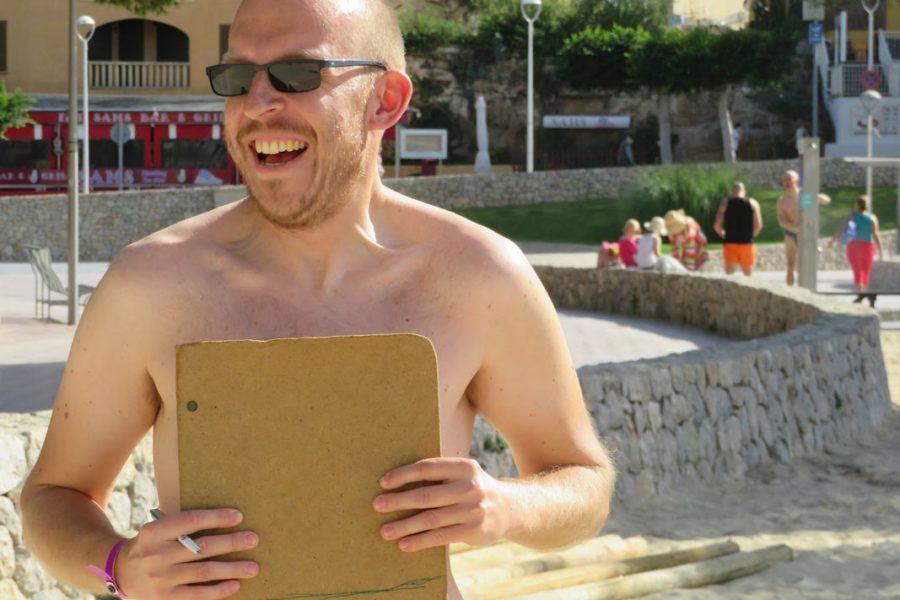 Foto beim Boccia-Spiel beim Urlaub in Santa Posa