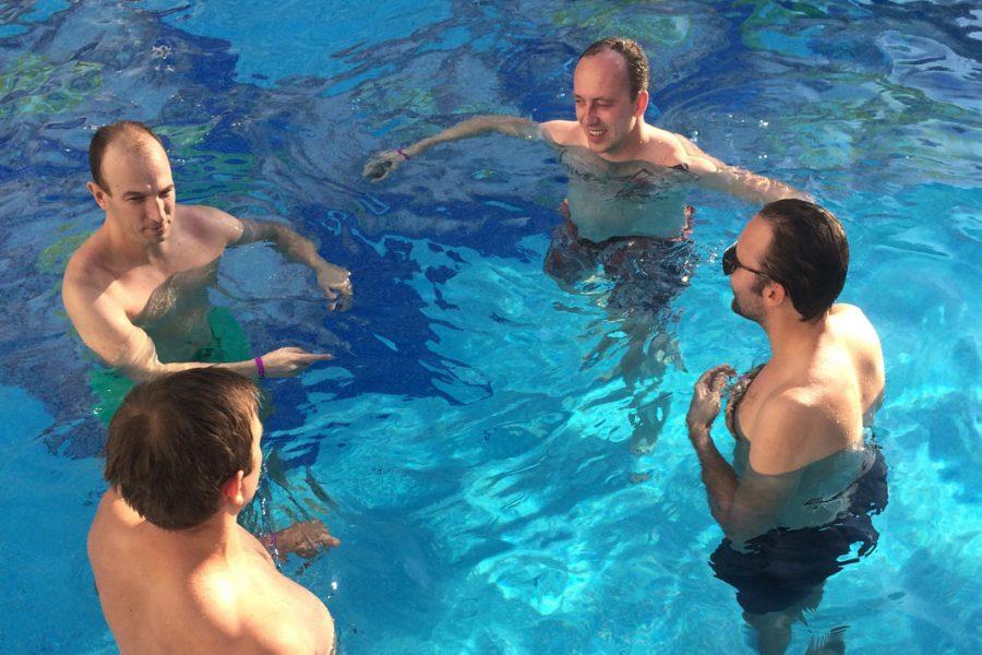 Foto im Pool beim Mallorca-Urlaub