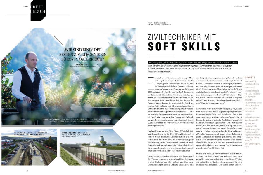 Eisner ZT GmbH im Spirit-Magazin 1